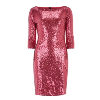Pink Sequin Bodycon Dress