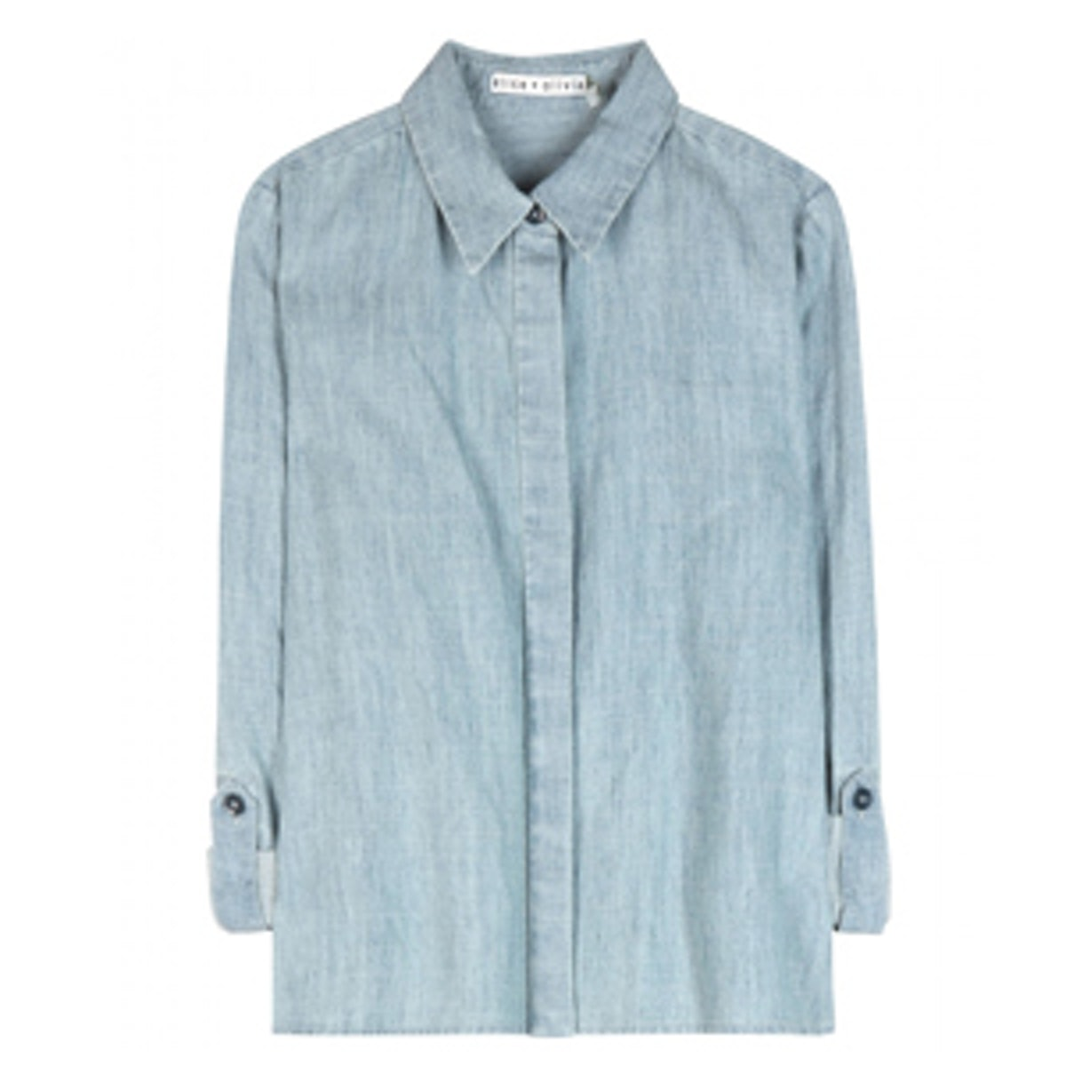 Greer Cropped Chambray Shirt