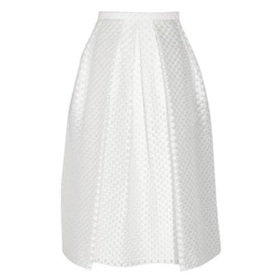 Polka-Dot Midi Skirt