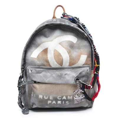 Grey Graffiti Backpack