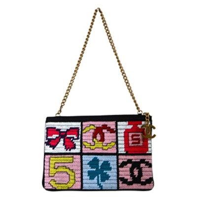 Needlepoint Lucky Charms Patchwork Bag (Vintage)