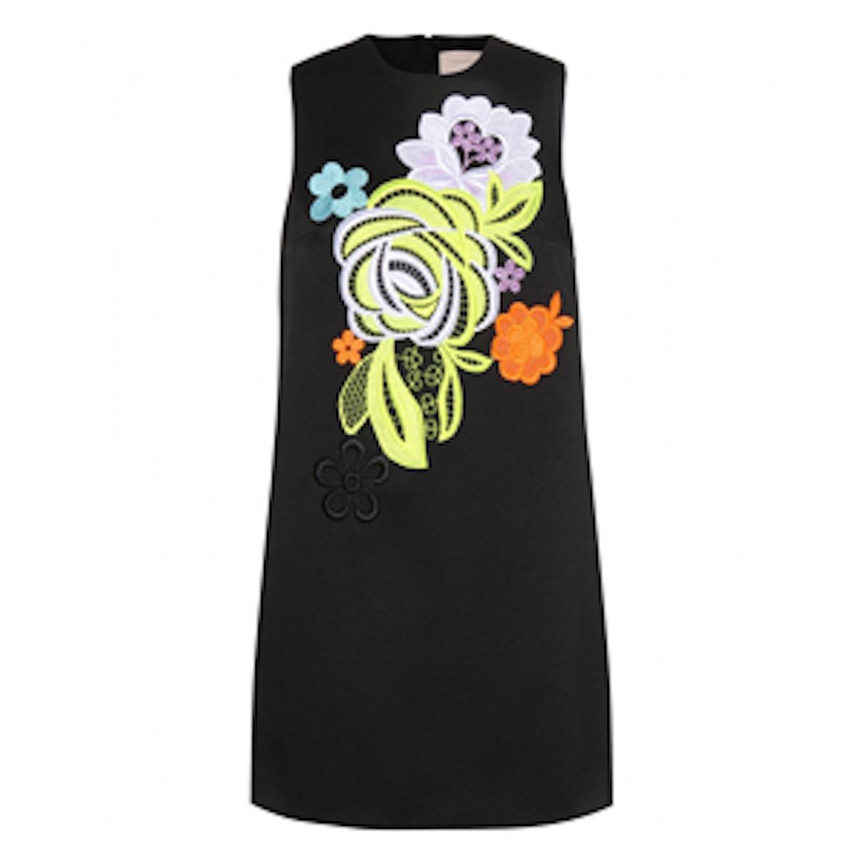 Shift Dress with Lace Applique