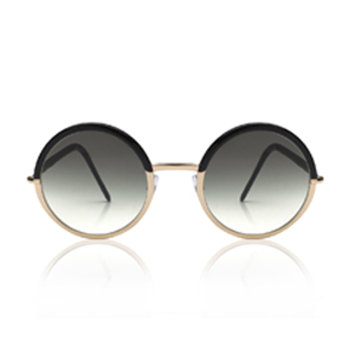Two Tone Round Gradient Sunglasses
