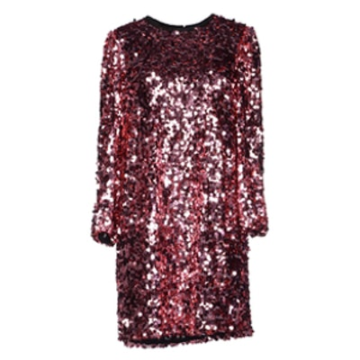 Short Pink Sequin Dress