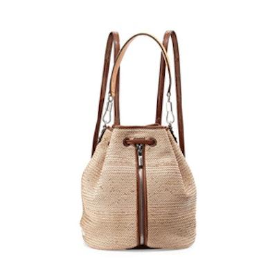 Cynnie Woven Drawstring Backpack