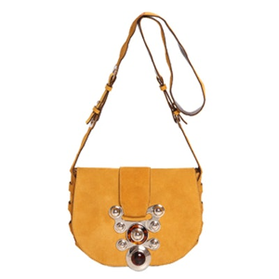 Janis Natural Stones on Suede Bag