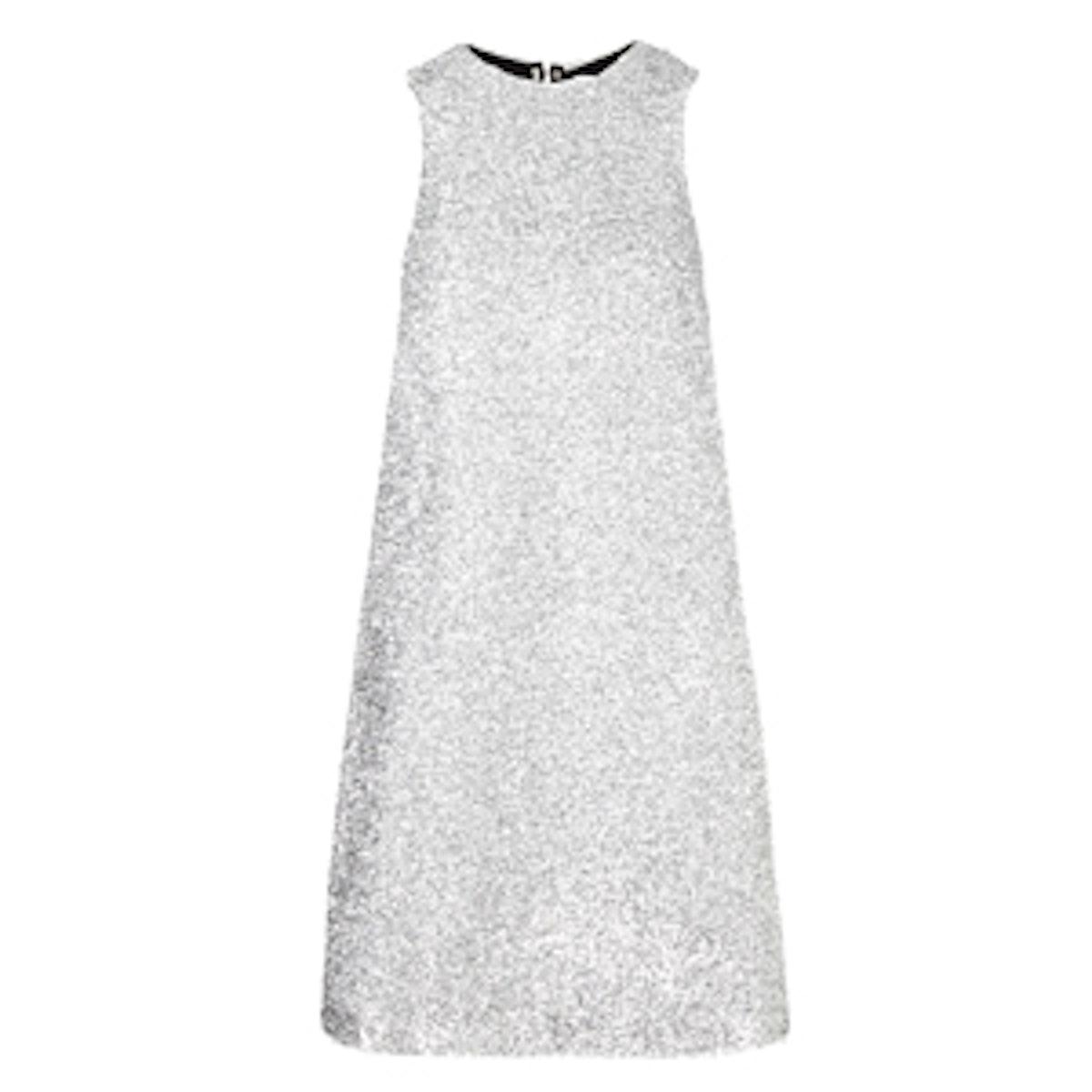 Silver Tinsel Indigo Dress