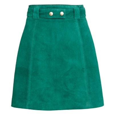 Teal Suede Skirt