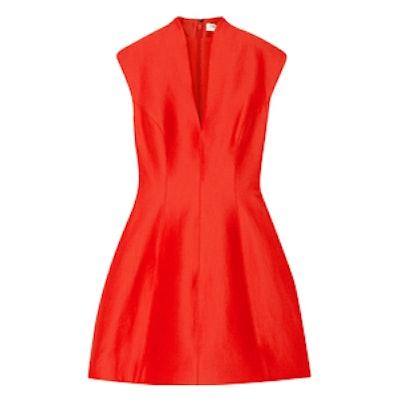 Paneled Faille Mini Dress