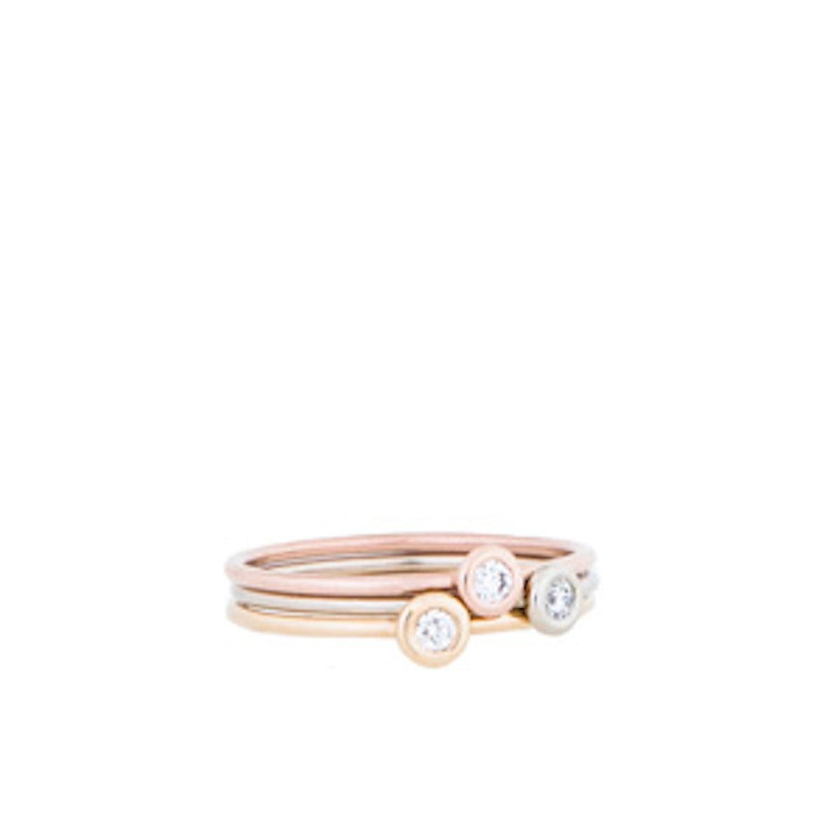 14K Divine Diamonds Stacking Rings