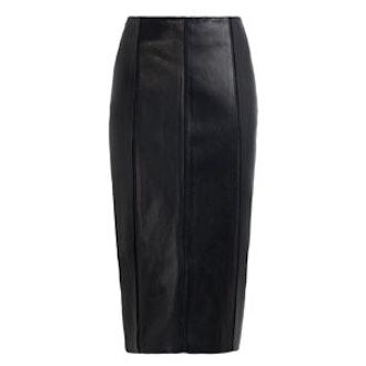 Tomone Leather Pencil Skirt