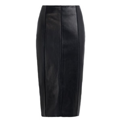 Tomone Leather Pencil Skirt