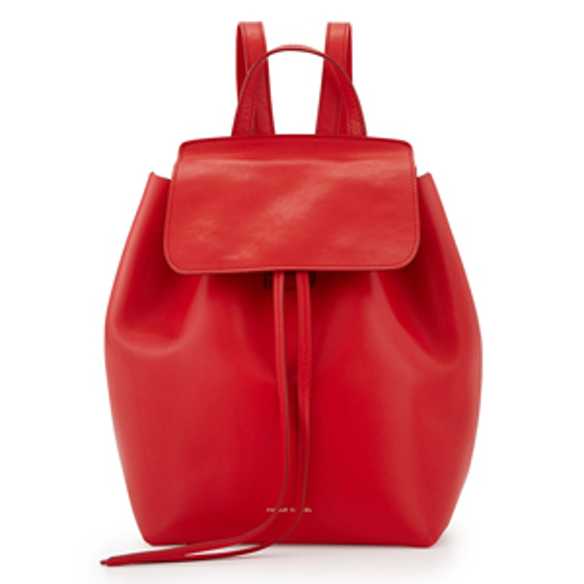 Mini Structured Leather Backpack