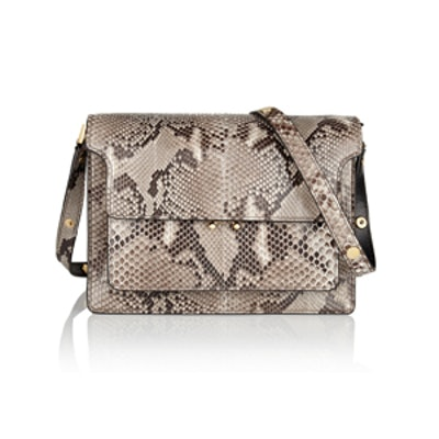 Trunk Medium Python Shoulder Bag