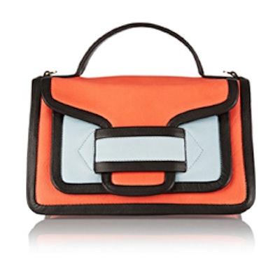 Color-Block Leather Satchel