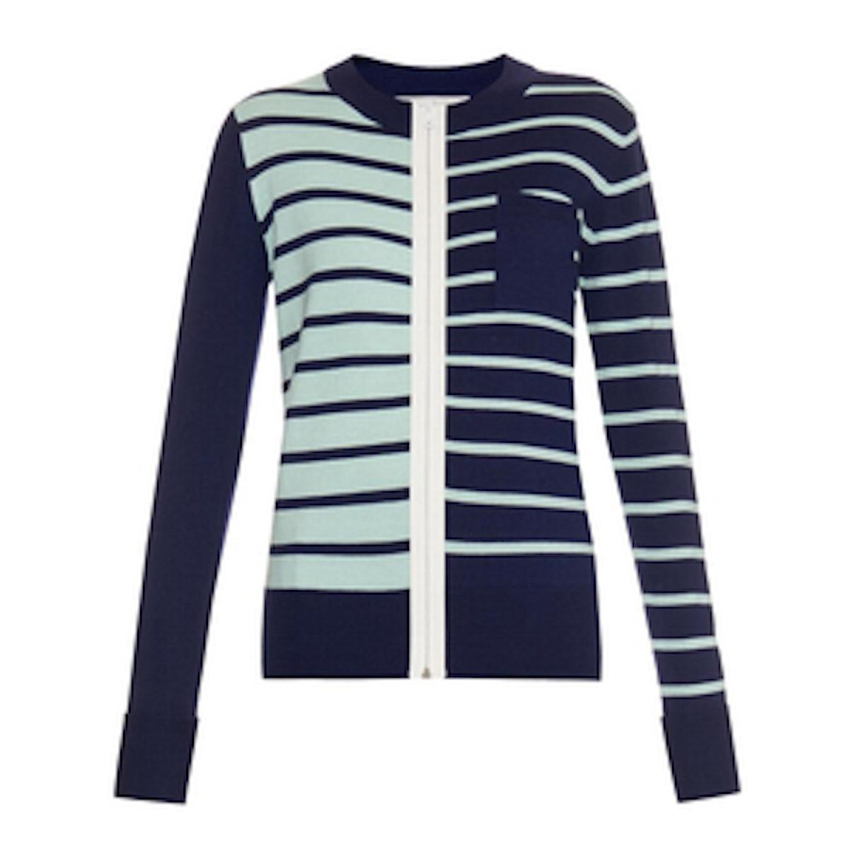 Striped Merino Wool Cardigan