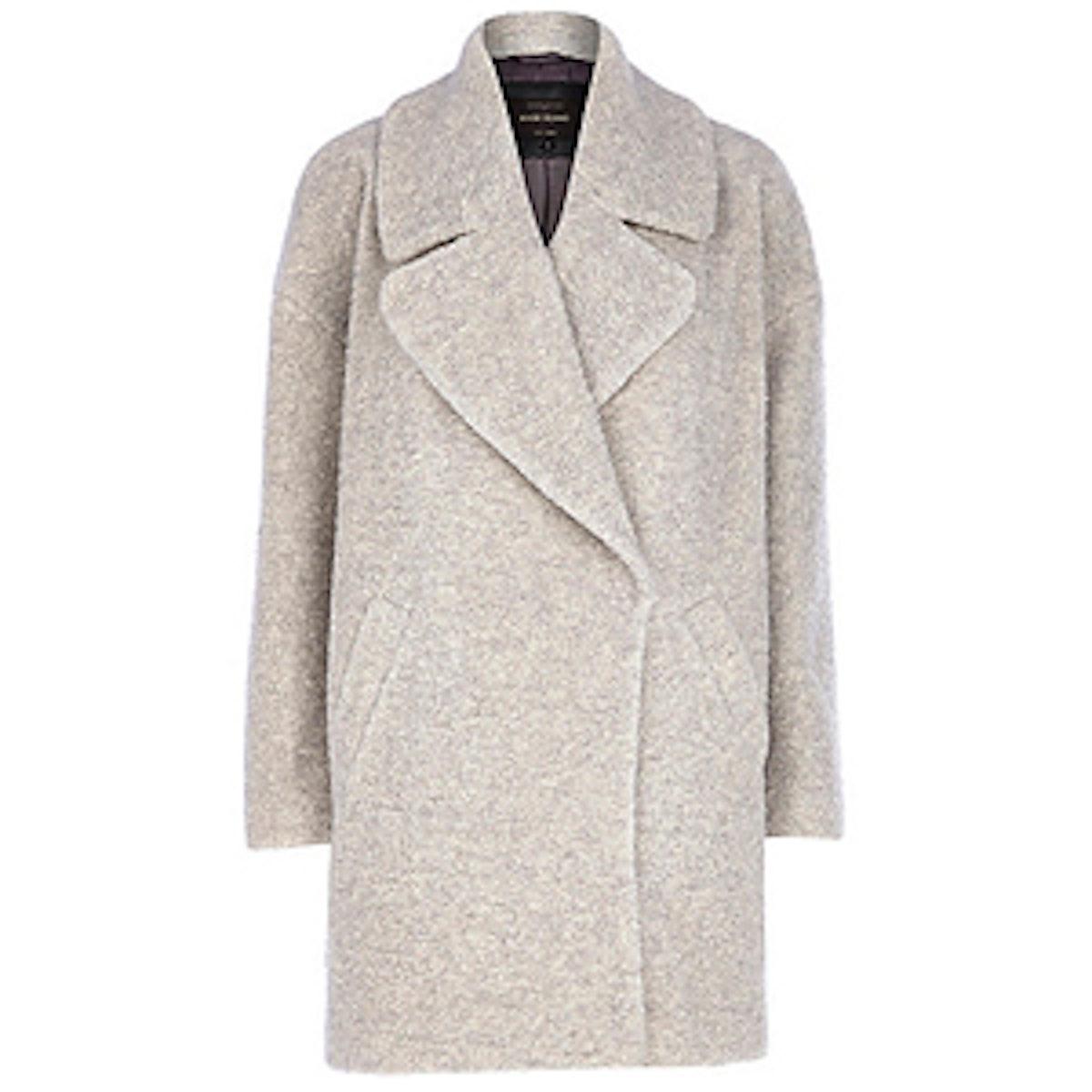 Light Grey Boucle Coat