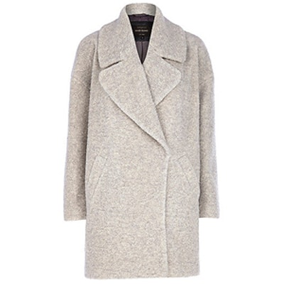 Light Grey Boucle Coat