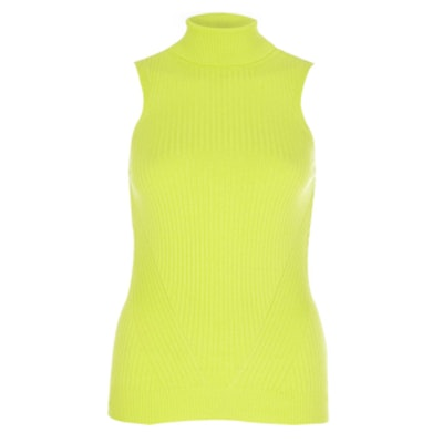 Lime Roll-Neck Top