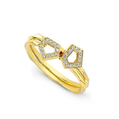 Ladies Diamond Orighami Stacking Ring