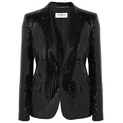 Sequined Tuxedo Jacket