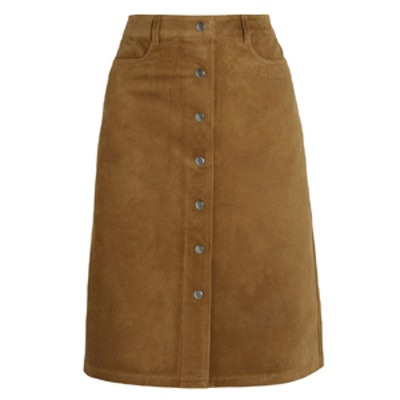 Pemma L Classic Suede Skirt