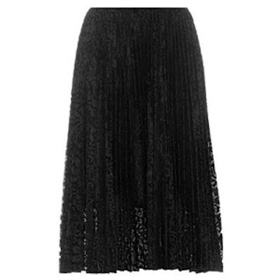 Zeyn Pleated Lace Skirt