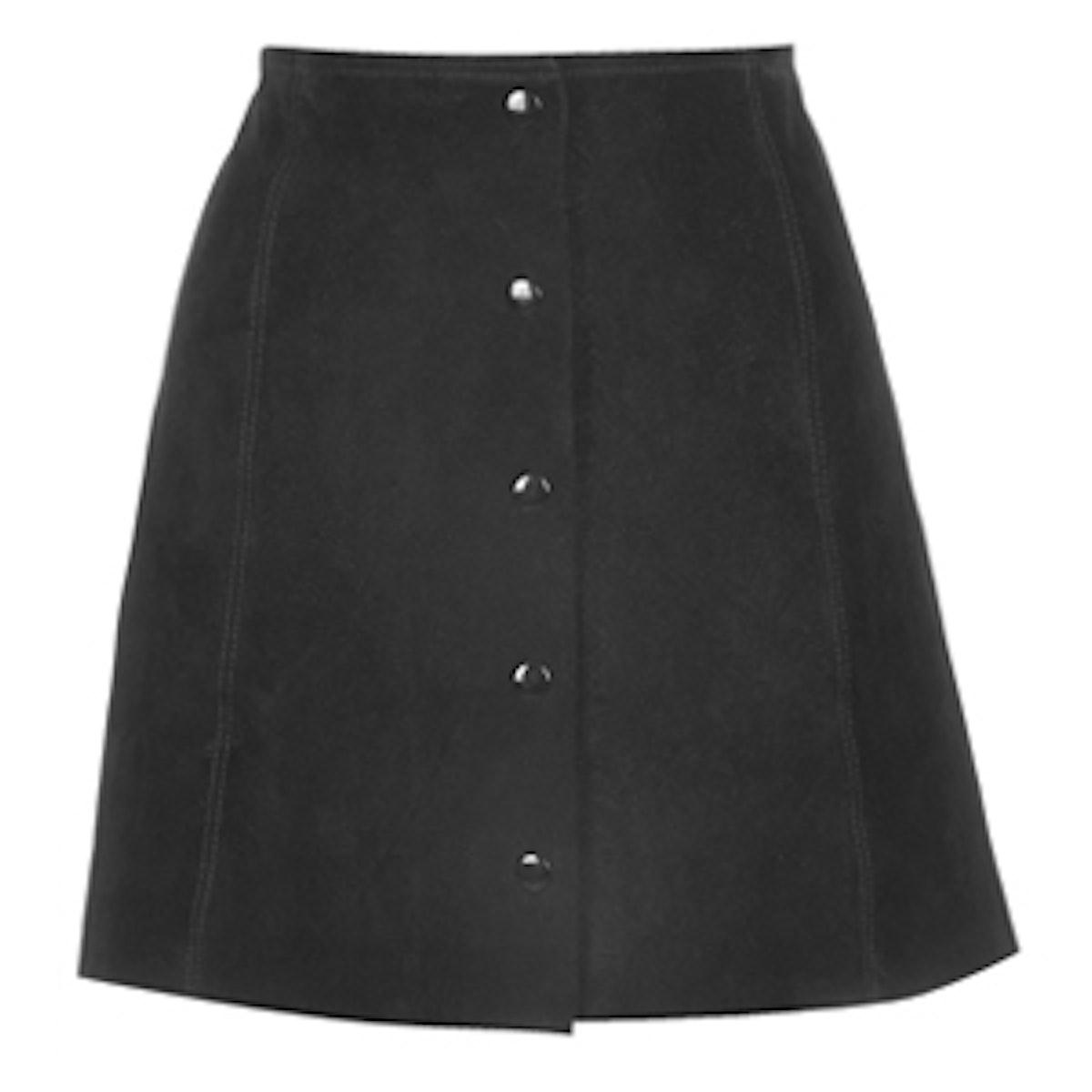 A-Line Popper Front Skirt