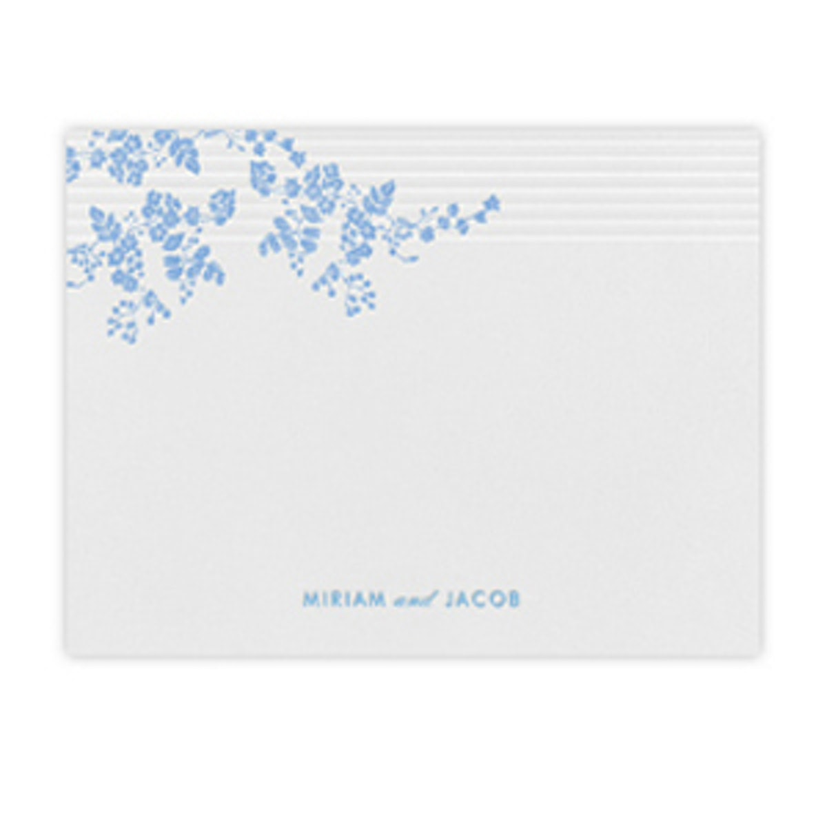 Floral Pinstripe Stationery