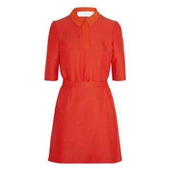 Contrast Collar Cady Dress