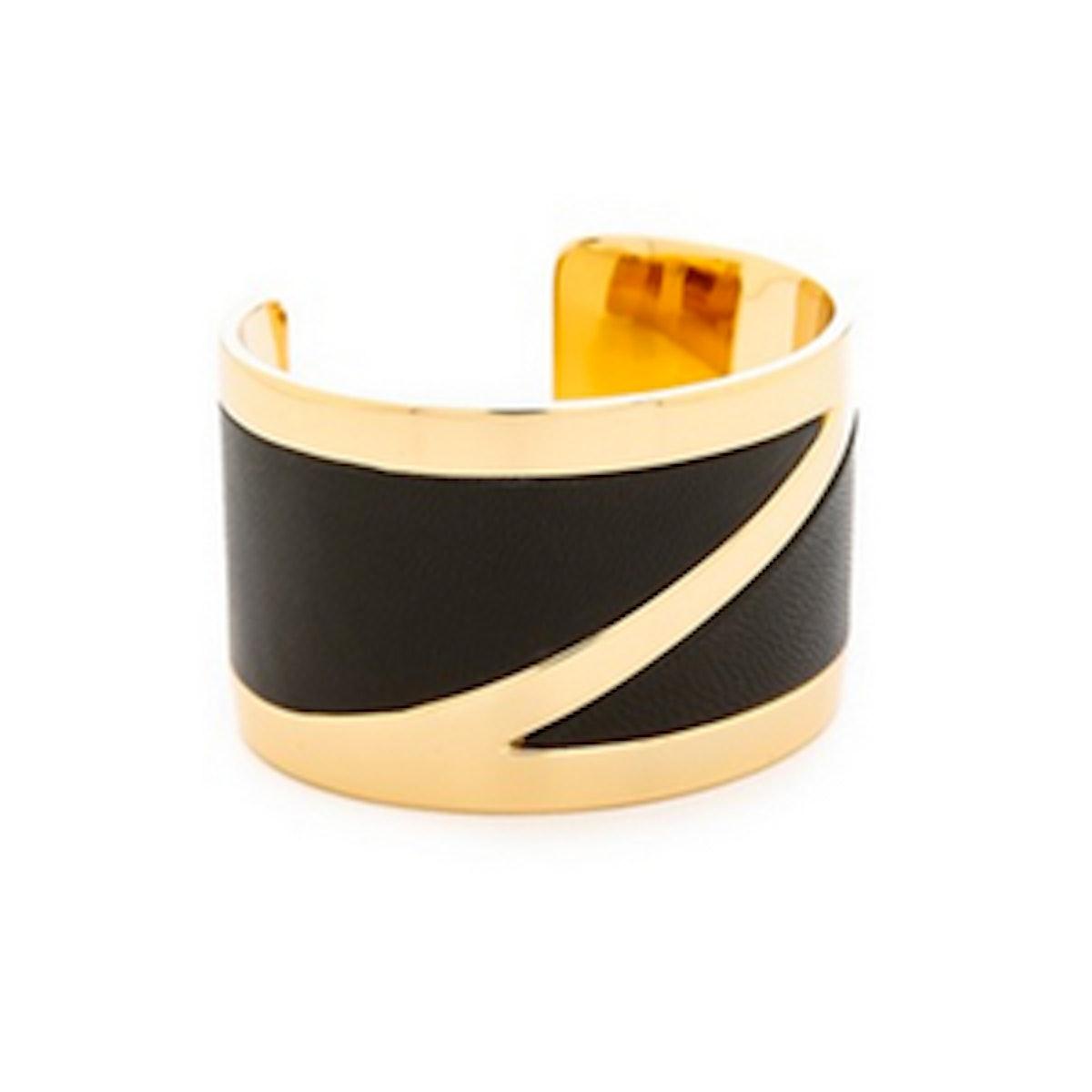 Eloise Leather Z Cuff Bracelet