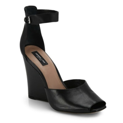 Nansen Too Leather-Wedge Sandals
