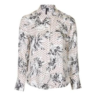 Geo-Rose Silk Shirt