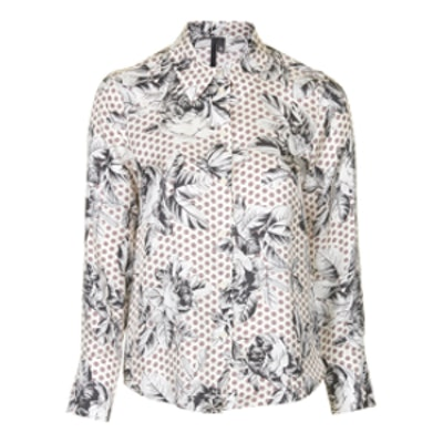 Geo-Rose Silk Shirt