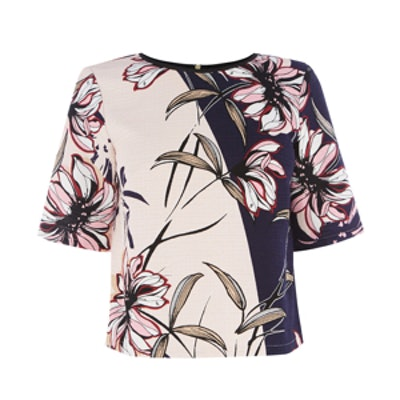 Wallpaper Floral Contrast Top