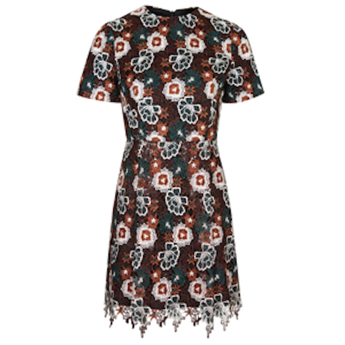 Multi-Lace Shift Dress