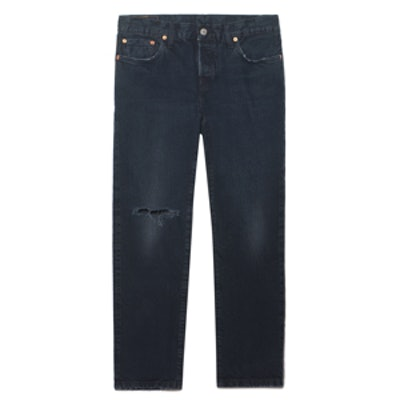 501 Distressed Mid-Rise Jeans