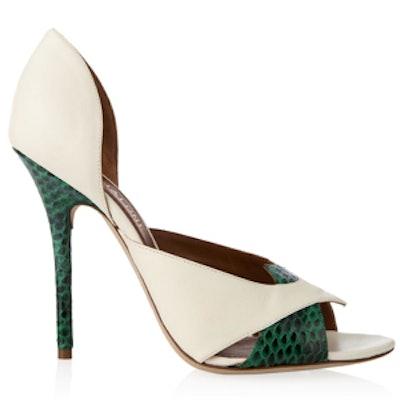 Babette Elaphe Snakeskin Sandals