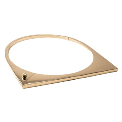 Modern Flat Necklace in Gold