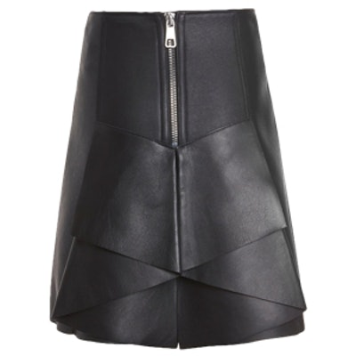 Trapeze Leather Skirt