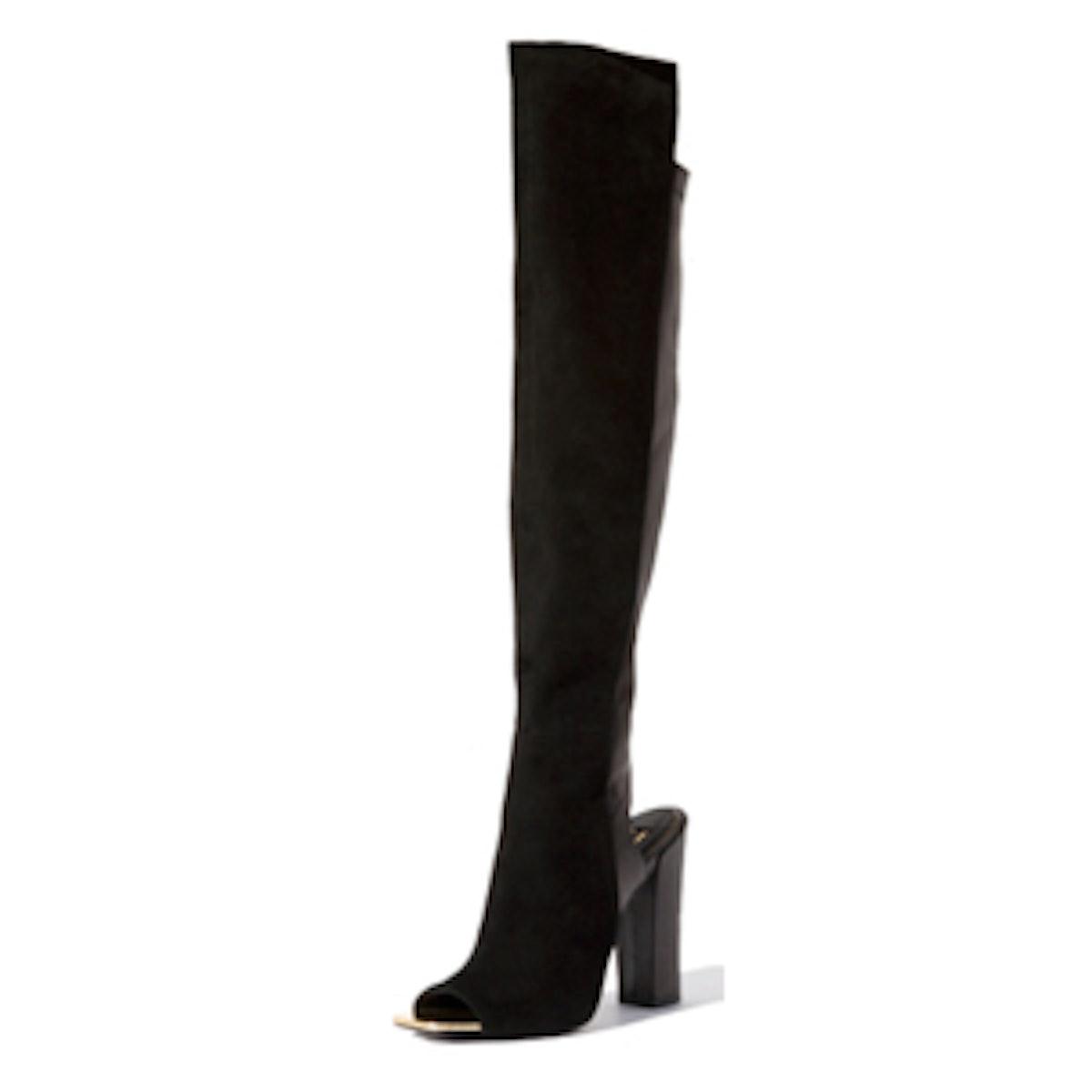 Open Toe Knee High Boots