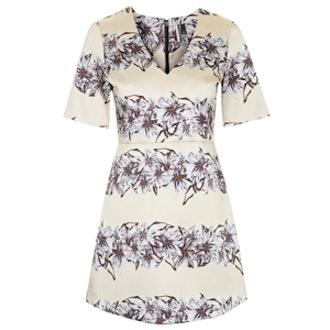 Flower Satin A-Line Dress