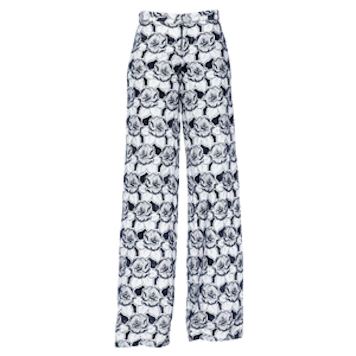 Jett Floral Wide-Leg Pants