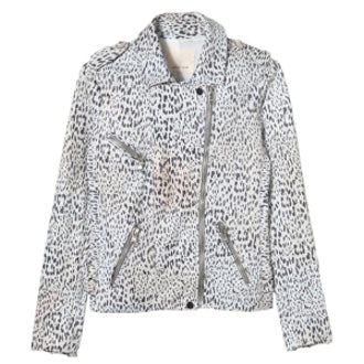 Ombre-Leopard Leather Jacket