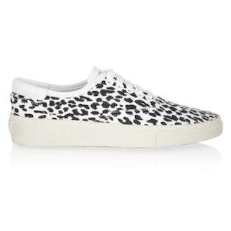 Leopard-Print Canvas Sneakers