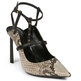 Rivet Python and Leather Pumps