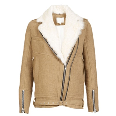 Shearling Trimmed Coat