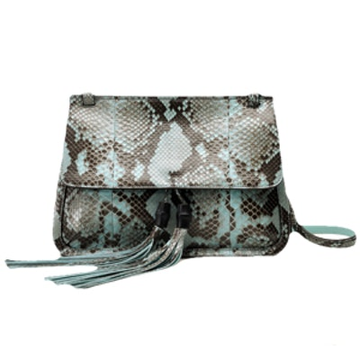 Python Flap Shoulder Bag