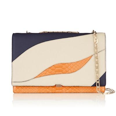 Leather and Python Shoulder Bag