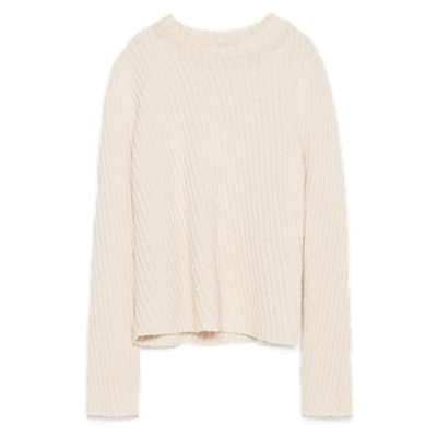Diagonal Knit Sweater